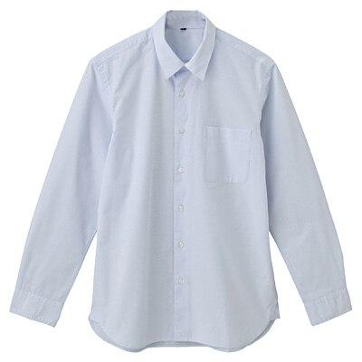 オーガニックコットンブロードシャツ(レギュラータイプ) 紳士L・ライトブルー