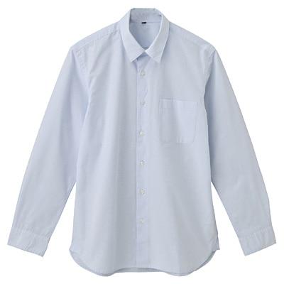 オーガニックコットンブロードシャツ(レギュラータイプ) 紳士XL・ライトブルー