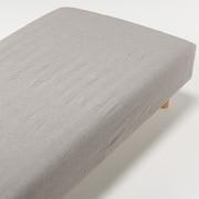 オーガニックコットン洗いざらしボックスシーツ・D/ブラウン/140×200×18~28cm用の商品画像