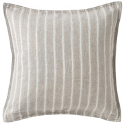Washed Linen Twill Cushion Cover Ecru Stripe