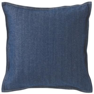 綿デニムクッションカバー/ブルー 43×43cm用