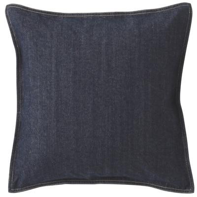 綿デニムクッションカバー/ネイビー 43×43cm用