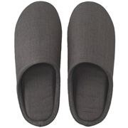 *linen Twill Cushion Slipper L D.gry S15