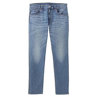 アメリカンコットン混デニムスキニーパンツ 紳士W73・ブルー