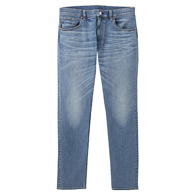アメリカンコットン混デニムスキニーパンツ 紳士W76・ブルー