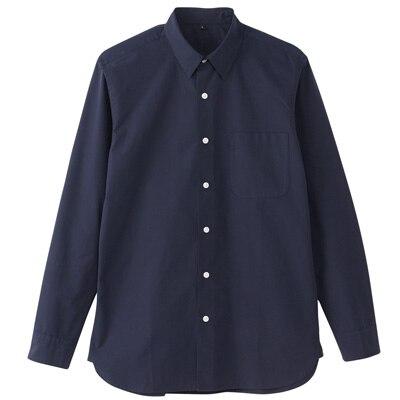 オーガニックコットンブロードシャツ(レギュラータイプ) 紳士XXL・ネイビー
