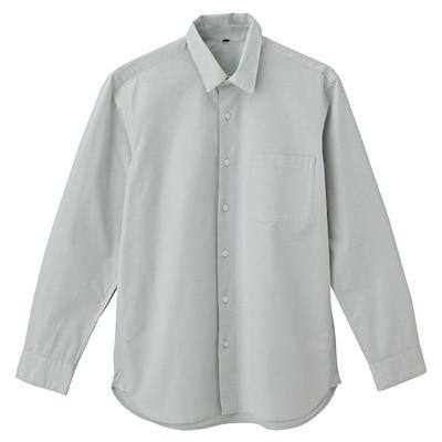 オーガニックコットンブロードシャツ(レギュラータイプ) 紳士XXL・ライトグリーン