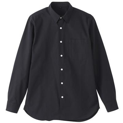 オーガニックコットンブロードシャツ(レギュラータイプ) 紳士XXL・黒