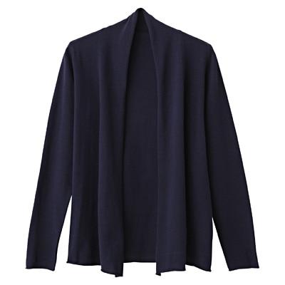 オーガニックコットン強撚UVカットストールカーディガン 婦人・S・紺
