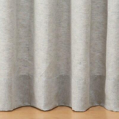 麻綿ななこ織プリーツカーテン/ライトグレー 幅100×丈105cm