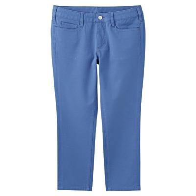 縦横ストレッチスキニークロップドパンツ 婦人67・ブルー