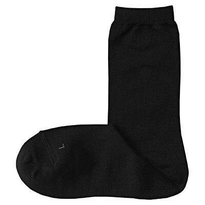 右と左のある足なり直角靴下(婦人・えらべる) 21~23cm・黒