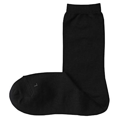 右と左のある足なり直角靴下(婦人・えらべる) 23~25cm・黒