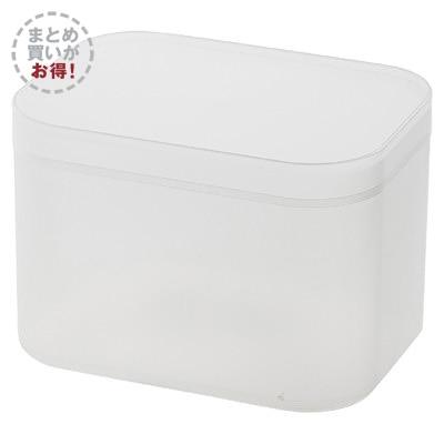 【まとめ買い】ポリプロピレンメイクボックス・蓋付・小/6個セットの写真