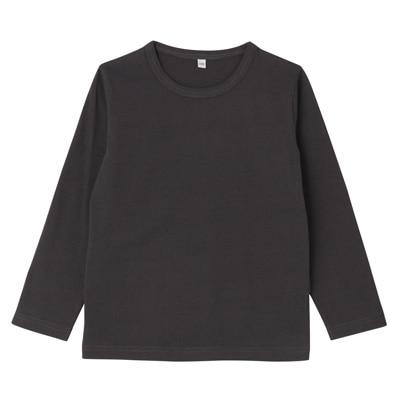 毎日のこども服長袖Tシャツ トドラー110・チャコールグレー