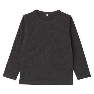 毎日のこども服長袖Tシャツ トドラー120・チャコールグレー