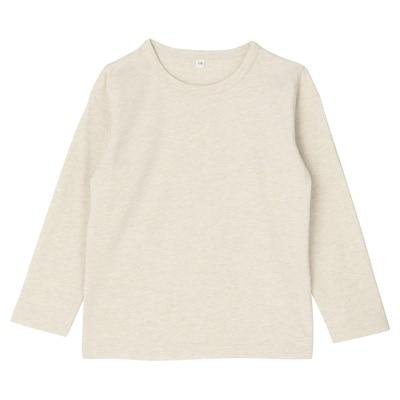 毎日のこども服長袖Tシャツ トドラー120・オートミール