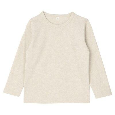 毎日のこども服長袖Tシャツ トドラー130・オートミール