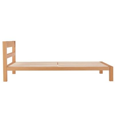 オーク材ベッド/シングル/幅100×奥行202×高さ74cmの写真