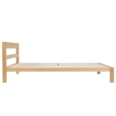 オーク材ベッド/クィーン/幅160×奥行202×高さ74cmの写真