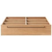 Wooden Bed Oak Underbed Storage L