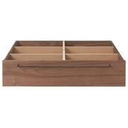 Wooden Bed Walnut Underbed Storage L