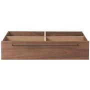 Wooden Bed Walnut Underbed Storage S