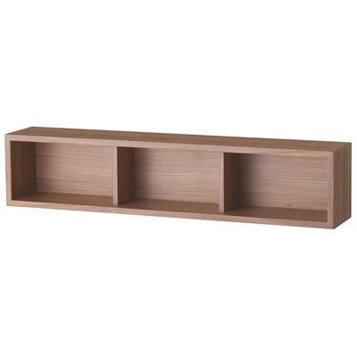 壁に付けられる家具・箱・幅88cm・ウォールナット材/幅88×奥行15.5×高さ19cmの写真