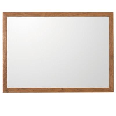 壁に付けられる家具・ミラー・小・ウォールナット材/幅44×奥行2×高さ32.5cmの写真