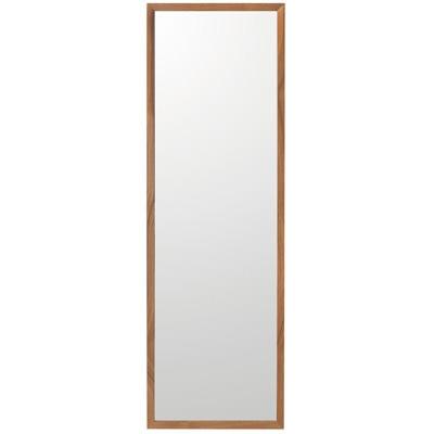 壁に付けられる家具・ミラー・中・ウォールナット材/幅32.5×奥行2×高さ100cmの写真