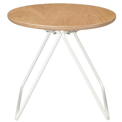 コンパクトサイドテーブル(木製天板)/幅36×奥行35×高さ30.5cmの写真