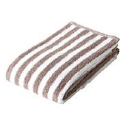 Organic Cotton Blend Soft F/towel Light Brown Stripe A15