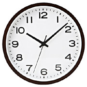 Analog Clock L Beech Dark Brown