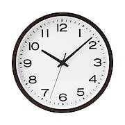 Analog Clock L Beech Dark Brown