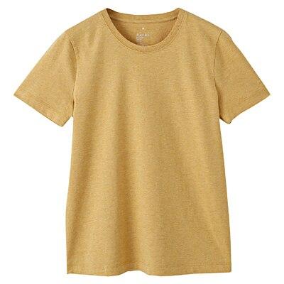 オーガニックコットンクルーネック半袖Tシャツ 婦人XL・イエロー
