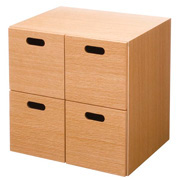 Stacking Chest Oak 4 Drawers