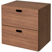 Stacking Chest Walnut 2 Tier