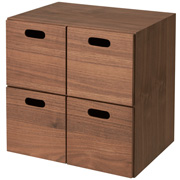 Stacking Chest Walnut 4 Drawer
