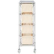 スチールユニットシェルフ帆布バスケットセット・スチール棚板・幅28cmタイプ/幅30.5×奥行43×高さ87.5cmの商品画像