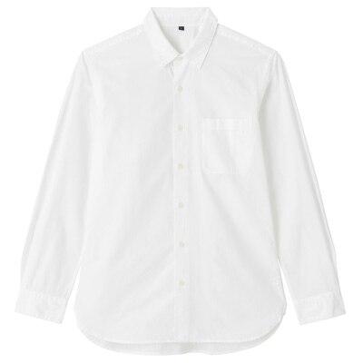 オーガニックコットンブロードシャツ(レギュラータイプ) 紳士S・白