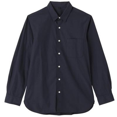 オーガニックコットンブロードシャツ(レギュラータイプ) 紳士L・ネイビー