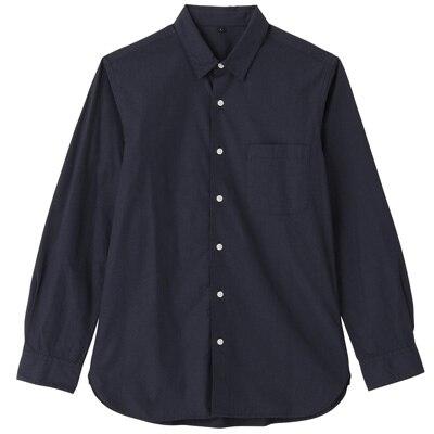 オーガニックコットンブロードシャツ(レギュラータイプ) 紳士XL・ネイビー