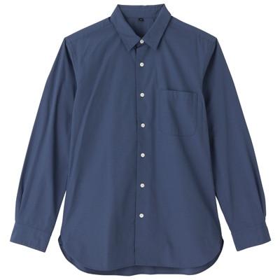 オーガニックコットンブロードシャツ(レギュラータイプ) 紳士L・スモーキーブルー