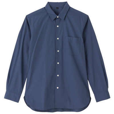 オーガニックコットンブロードシャツ(レギュラータイプ) 紳士XXL・スモーキーブルー