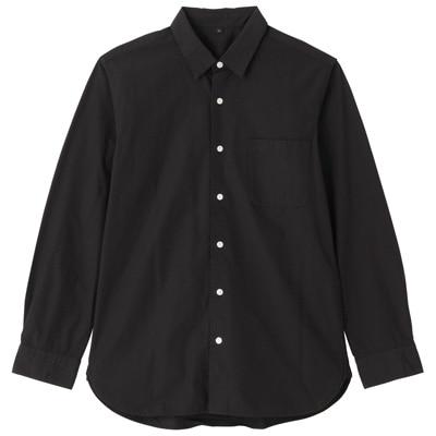 オーガニックコットンブロードシャツ(レギュラータイプ) 紳士XL・黒