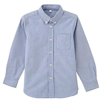 洗いざらしシャツ トドラー110・サックスブルー