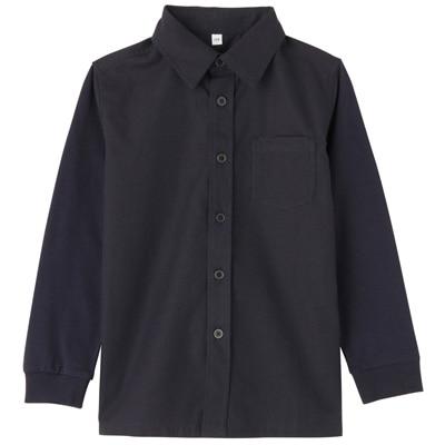カットソー使い切り替えシャツ トドラー130・ネイビー