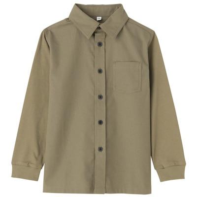 カットソー使い切り替えシャツ トドラー130・カーキグリーン