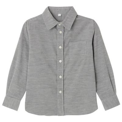 コーデュロイシャツ トドラー120・グレー