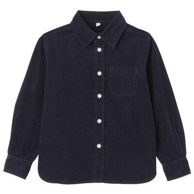 コーデュロイシャツ トドラー130・ネイビー